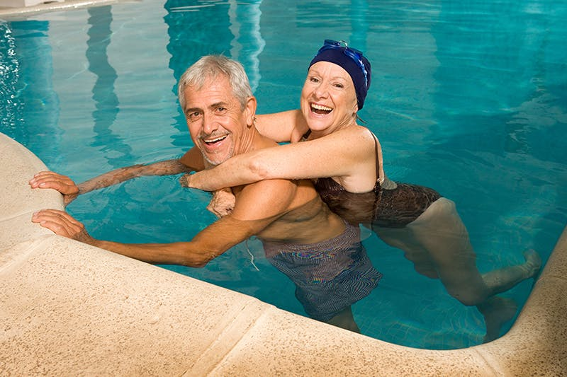 water aerobics and swimming remedies for brain injury