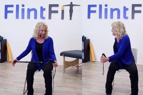 pt demonstrating shoulder subluxation stroke exercises