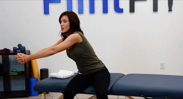 stage 2 of lateral punch core exercise