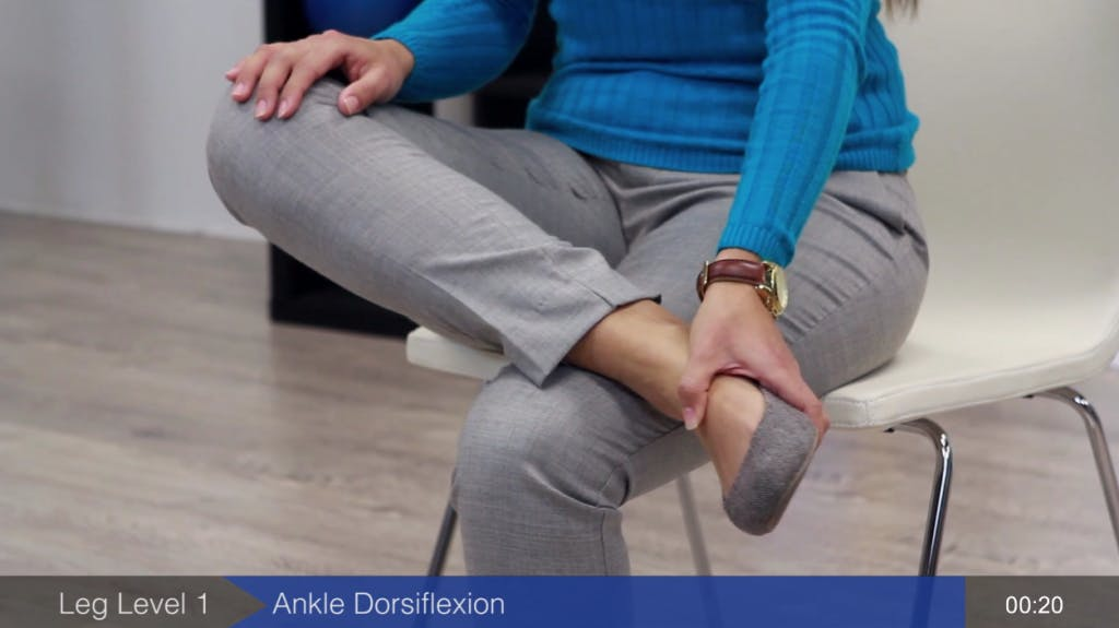 ankle exercise to recover walking after stroke