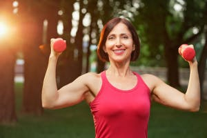 using dumbbells for stroke recovery
