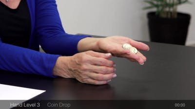 coin drop hand exercises for stroke recovery