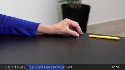 ejercicio de la mano hemipléjica posición media