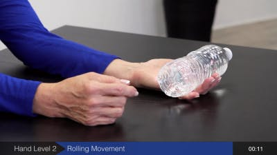 rolling movement hand and arm exercise after stroke