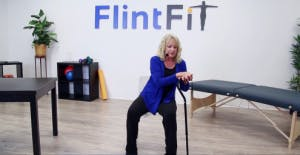 stroke exercises for arms cane lean