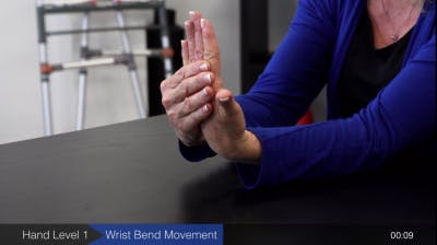 wrist bending hand exercise for stroke recovery