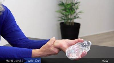 wrist curl hand exercise for stroke rehabilitation