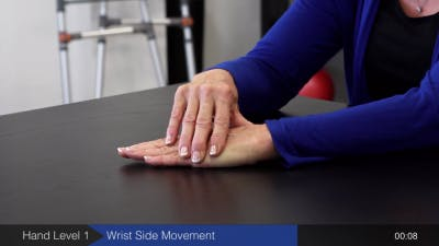 wrist side movements for hand rehabilitation after stroke