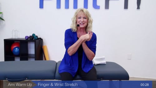 OTA demonstrating passive wrist exercise