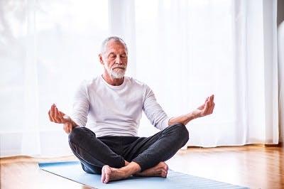 stroke survivor practicing mediation