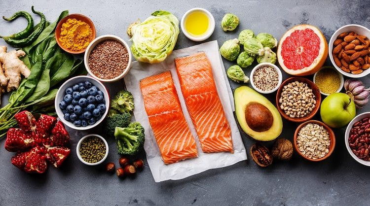 Adding healthy foods like salmon, dark leafy greens, and berries to you diet will help make sure that it is getting all the essential nutrients it needs to recover