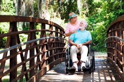 taking someone with quadriplegia for a walk outside