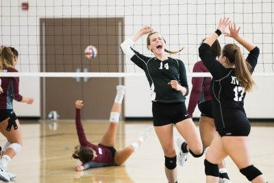 Volleyball players have a high risk of concussion