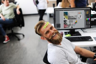 man with balanced attitude returning to work after brain injury