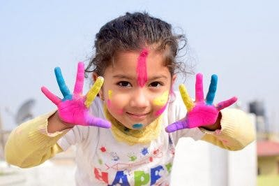 painting is one of the best activities for kids with cerebral palsy