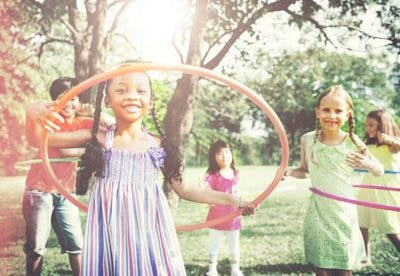 hula hooping recreation for kids with cp