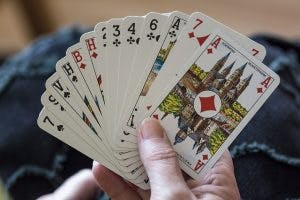 Playing card games for brain injury patients