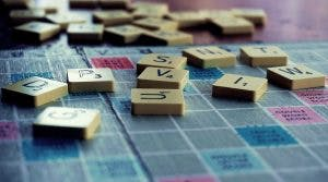 scrabble tiles on board