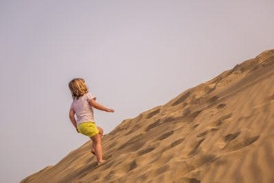 practice walking on sand as leg exercise for cerebral palsy