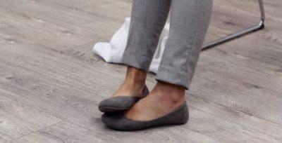 Ejercicio punta del pie caído