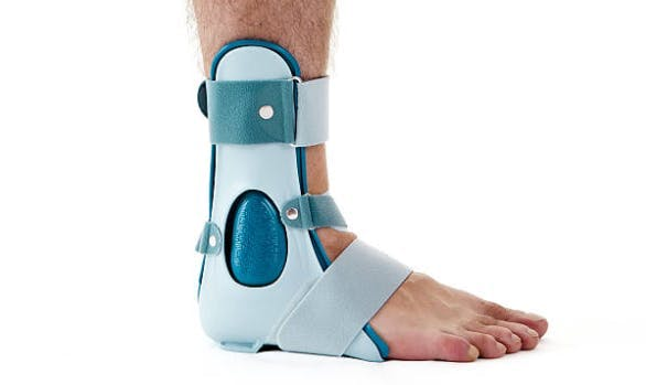 foot brace stretching stiff muscles after stroke