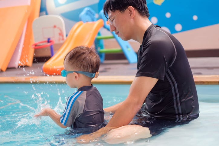 buoyancy and viscosity to practice cerebral palsy balancing exercises