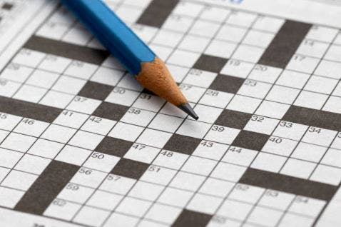empty crossword puzzle for speech rehabilitation after stroke
