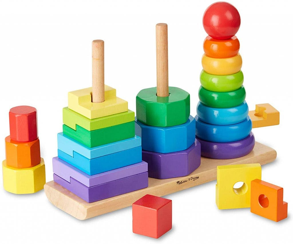 geometric stacker toys for children with cerebral palsy