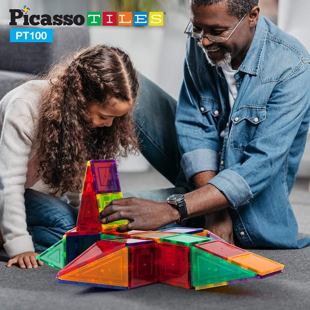 magnetic building tiles for children with cerebral palsy