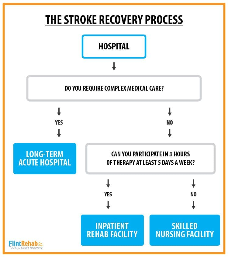 infographic of stroke recovery process