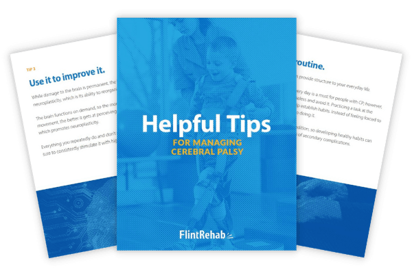 illustration of cerebral palsy tips ebook with example pages