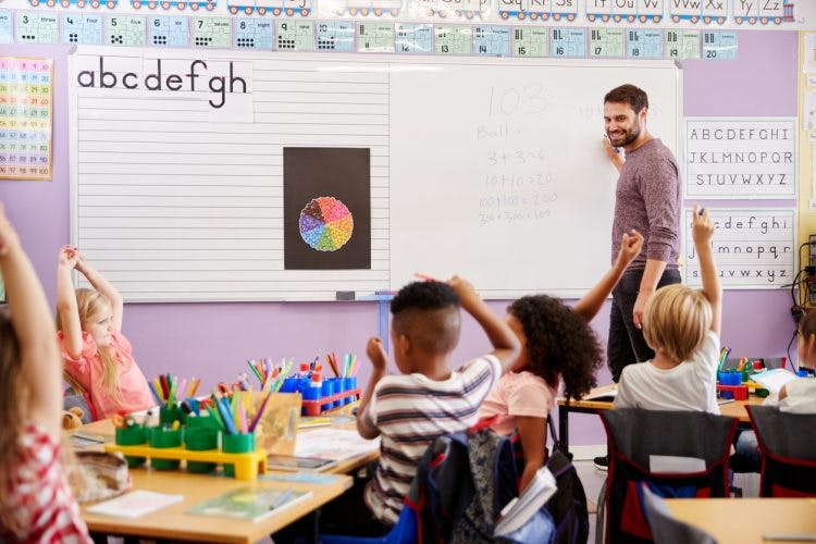 child with cerebral palsy in the classroom