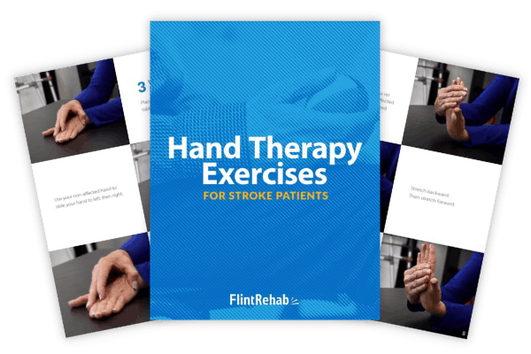 hand therapy ebook cover with example pages