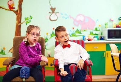 students with cerebral palsy in the classroom