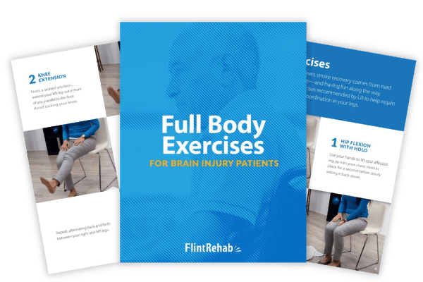 ebook with brain injury recovery exercises and example pages