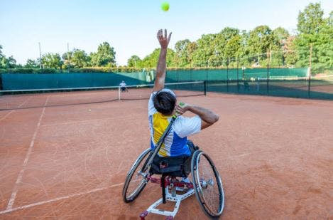 spinal cord injury sports like wheelchair tennis