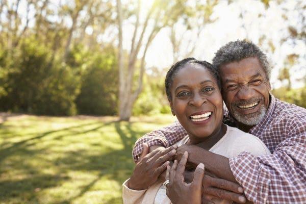 happy senior couple of stroke survivors