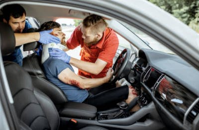 car accident hyperextension spinal cord injury