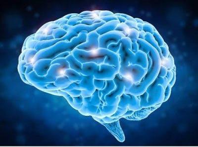 Illustration einer Gehirnschaltung, die neu verkabelt wird, um die Sprache nach einem Schlaganfall wiederzugewinnen