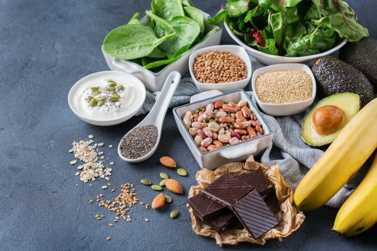 Assortment of healthy high magnesium food sources for brain injury patients