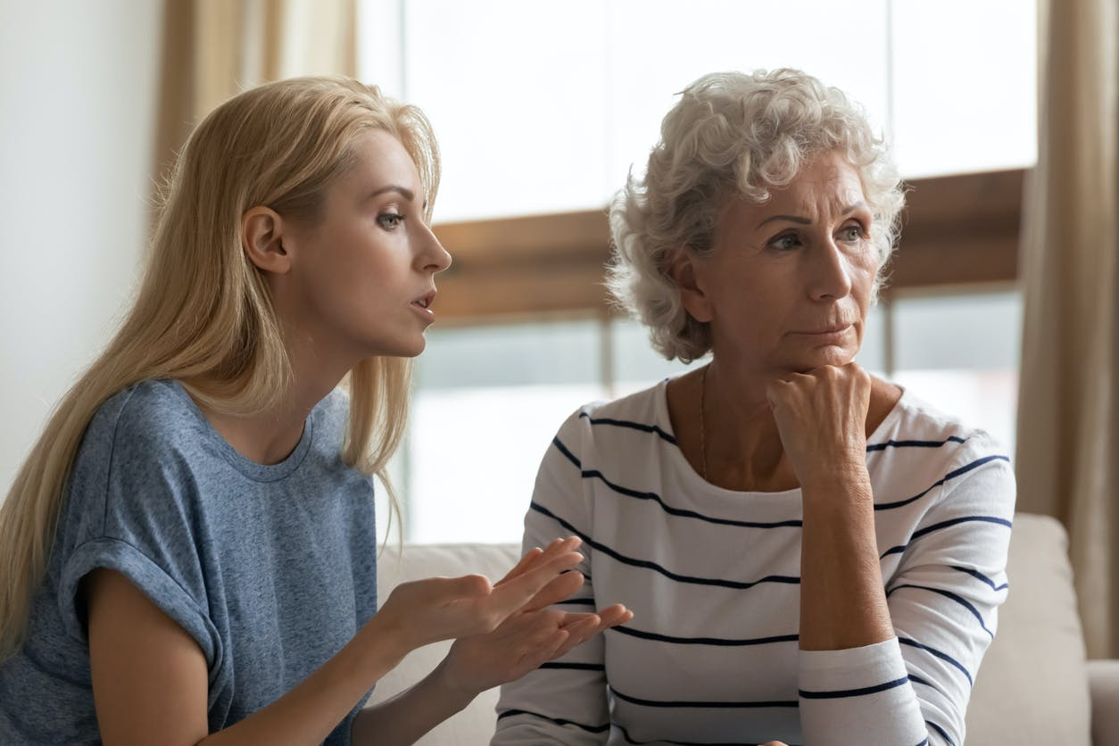Daughter trying to explain anosognosia to her stubborn mother