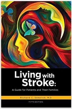 cover of living with stroke book