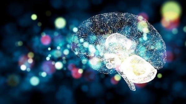 Darstellung von Gehirn und neuronalen Netzen mit Neuroplastizität nach Schlaganfall