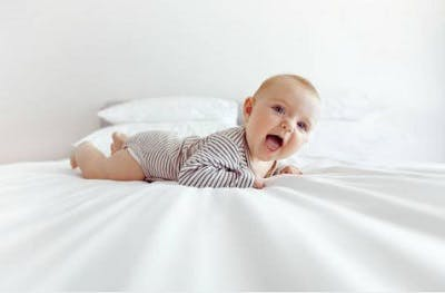 infant showing symptoms of torticollis and cerebral palsy