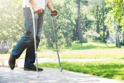 man with incomplete spinal cord injury walking rehabilitation