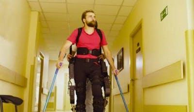 paraplegic walking again with exoskeleton