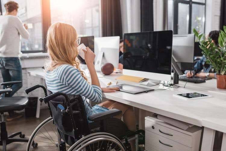 woman preparing for employment after spinal cord injury