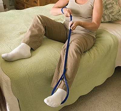 leg lifter adaptive tool for bed transfers