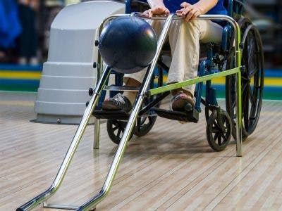 bowling ramp for individuals with limited arm functions