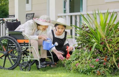 gardening with your loved one who has quadriplegia can be a great way to spend quality time together